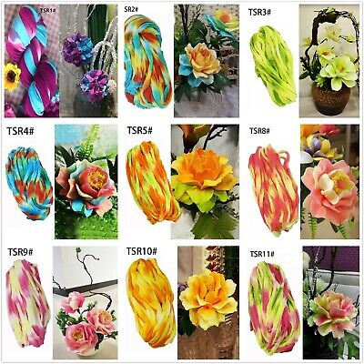 NYLON STOCKING MESH ARTIFICIAL FLOWER MAKING CRAFT MULTI COLOURED - mixed