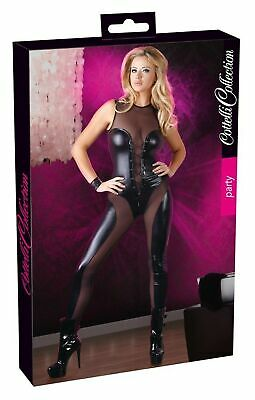 Cottelli Collection Small Black Overall Wetlook Catsuits