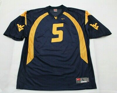 Nike Men's Size Large West Virginia Mountaineers #5 NCAA Football Home Jersey
