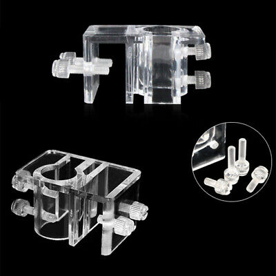 20mm Acrylic Aquarium Outflow Inflow Hose Tube Fixing Pipe Clip Holder Hanger