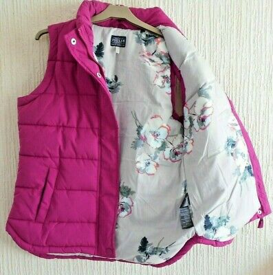 """Joules """"Eastleigh"""" Padded Gilet - Ruby- size 12"""