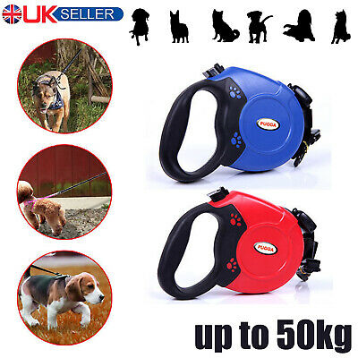 MAX 50KG Retractable Dog Lead Flexi Locking Extending Leash Comfort Padded Large