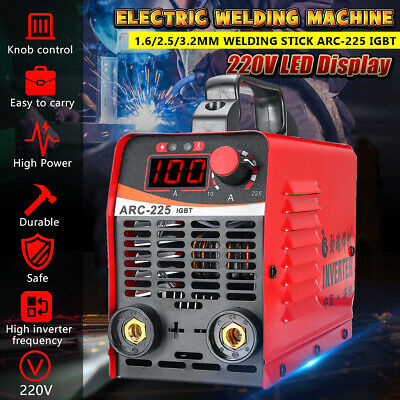 10-225AMP Mini Welder LCD ARC MMA Portable Stick Welding Inverter Machine 240V
