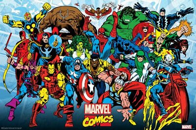 Marvel Comics - Retro Running POSTER 61x91cm NEW