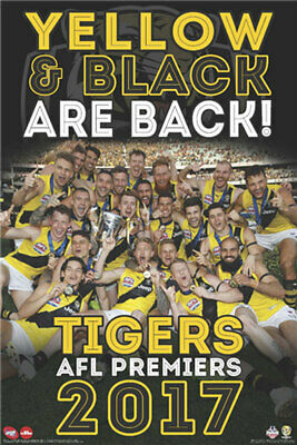 AFL 2017 Premiers - Richmond Tigers POSTER 61x91cm NEW