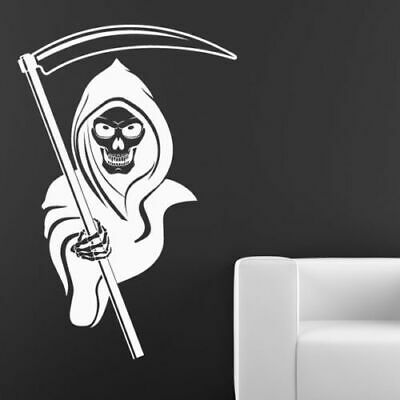 Halloween Grim Reaper Wall Stickers Death Angel Scary Rooms Decorations Skeleton