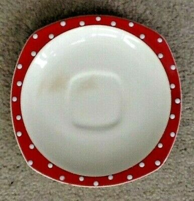 Midwinter Red Domino saucer vintage