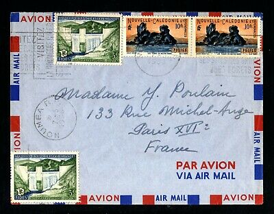 366-NEW CALEDONIA-AIRMAIL COVER NOUMEA to PARIS (france) 1958.Nouvelle CALEDONIE