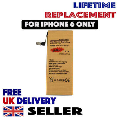 New Genuine GOLD Full High Capacity Replacement Battery 2980mAh for iPhone 6 UK