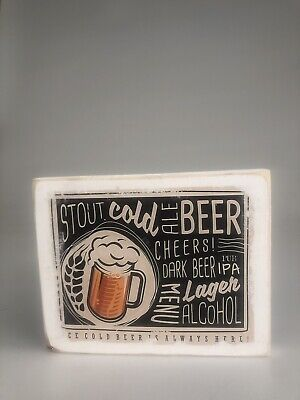 Beer Sign Wood Pub Tavern Ipa Lager Stout Brew Decor Brewery Man Cave Cheers