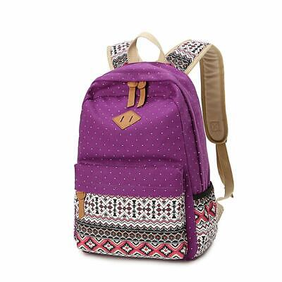 Backpack for Girls, Sugaroom School Backpack Canvas Bookbags Teen Backpacks