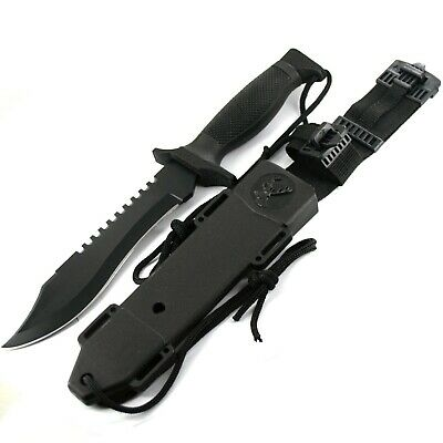 "12"" Military Hunting Survival Bowie Tactical Knife w/ Sheath Combat Fixed Blade"