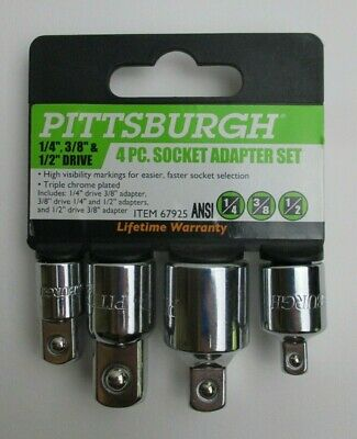 4 Piece High Visibility Socket Adapter Set Pittsburgh