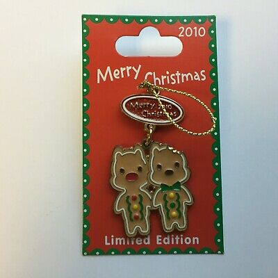 DLR - Merry Christmas 2010 - Gingerbread - Chip 'n Dale LE 500 Disney Pin 80654