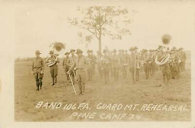 RPPC CAMP PINE, NY New York CANNON GUN FIRE Military WW1 By