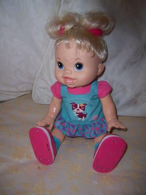 Hasbro Baby Alive Wanna Walk Doll 2011 Working Condition Original Outfit Blonde