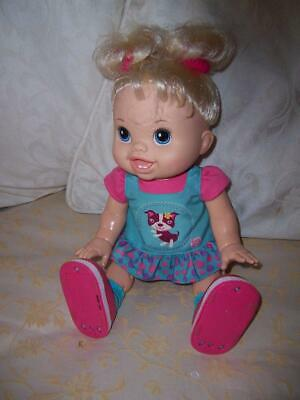 Hasbro Interactive Walking Baby Alive Wanna Walk Doll Working Original Outfit