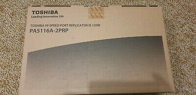 Toshiba Port Replicator PA5116A-2PRP - Compatible R30, Z30, Z40, Z50 Laptops