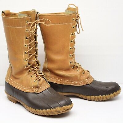 Cuir LL Fauve HARICOT Hommes VINTAGE M Chasse Bottes 8 Maine 8wOvNPmyn0