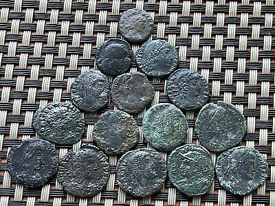 Lot Of 15 Ancient Roman Imperial Bronze Coins Ae3 And Ae4 Very Nice Coins