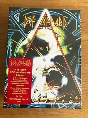 Def Leppard Hysteria Super Deluxe Limited Edition 7 disc Box Set 30th Anniv Rare