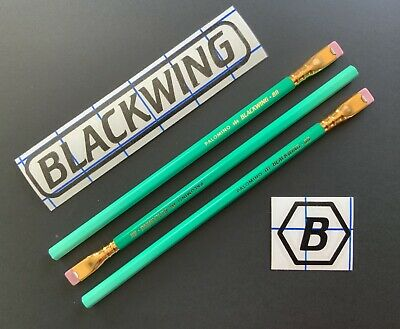 3 pieces Blackwing Pencils Vol. 811 Library Edition Glows In Dark Firm Graphite