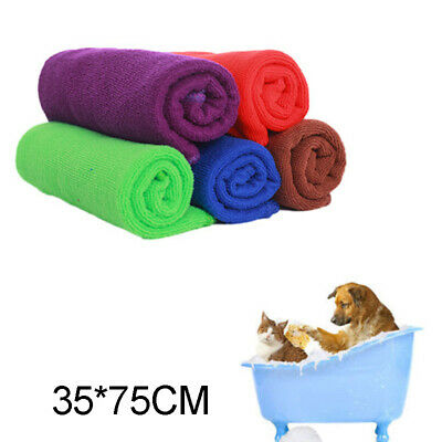 Absorbent Large Soft Microfibre Pet Dog Cat Towel Puppy Drying Blanket 70 x 30cm