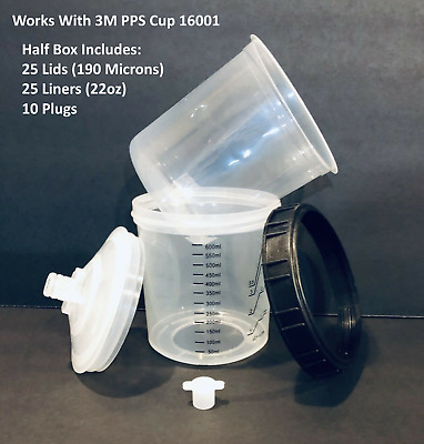 22 oz Disposable Paint Cups 190 Micron (Compare to 3M PPS 16000 ) Half Box of 25