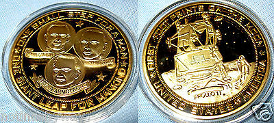 Apollo 11 Gold Coin Buzz Aldrin Lightyear Sci-Fi Film Movie Moon Landing NASA US