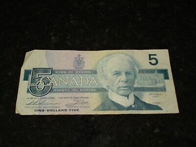 1986 - $5 Canada note - Canadian five dollar bill - FNP6997895