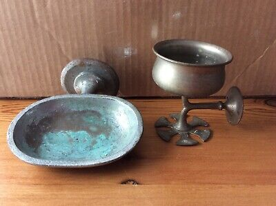 Antique KOHLER USA, SOAP DISH & CUP TOOTHBRUSH HOLDER Country Farmhouse