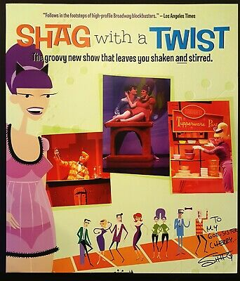 SHAG SIGNED Poster print 2005 Shag with a Twist - Mid Century Modern lowbrow