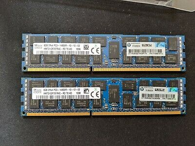 16GB SK-Hynix (2x8GB) PC3-14900R DDR3 1866MHz Server RAM 712382-071U
