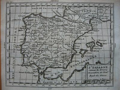 c1750 - BUFFIER - Small map SPAIN PORTUGAL  Espana
