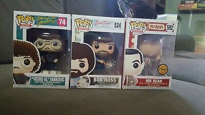 Funko Pop Lot Of 3! Mr. Bean Chase Bon Ross And Weird Al Yankovic