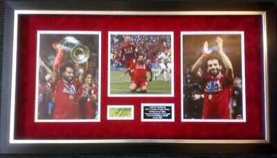 Mo Salah Signed & Framed Liverpool F.C. Mounted Display AFTAL COA (A)
