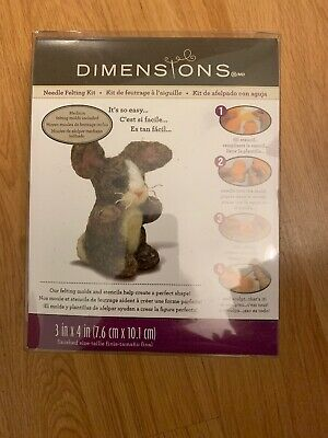 Dimensions 72-73800 Feltworks Needle Felting Kit-Bunny