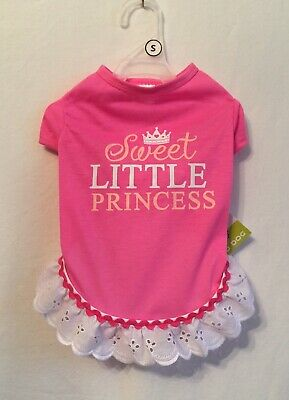 "Simply Wag "" SWEET LITTLE PRINCESS "" Dog Shirt Pink Small"