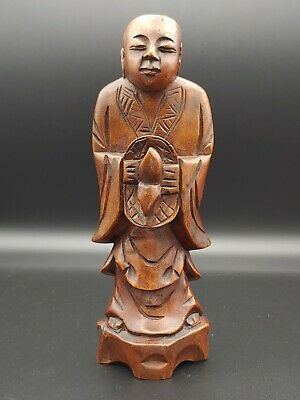 老楠木雕佛像收藏Chinese Qing ANTIQUE Nanmu Wooden figurine  Budda Buddhism art Statue
