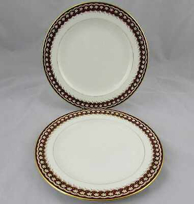"2 Cauldon England Dinner Plates 10"" For Higgens & Seiter NY"