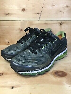 MEN'S NIKE AIR Max+ Flywire Black Volt 386368 004 Size 12