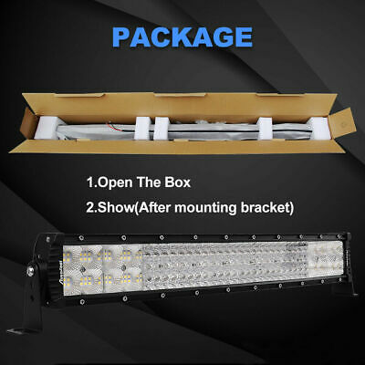 For JEEP Truck SUV Autofeel 22 inch 3072w Led Light Bar Combo Spot Flood Boat US