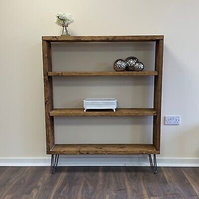 Industrial Bookcase Chic Shelving Unit Room Divider Retro Display Shelves