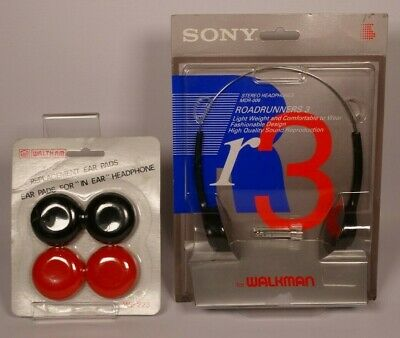 Vintage Sony Mdr-006 Headphones, Roadrunners 3 + Replacement Ear Pads - New/Seal