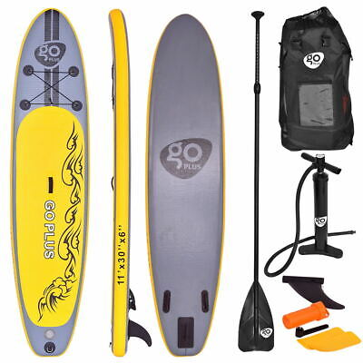 335CM SUP Inflatable Surfing Board Soft Surf Stand Up Paddle Board 11FT UK