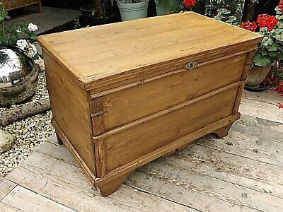 Lovely Unusual Old Antique Pine Blanket Box/Chest/Trunk/Table/Storage-We Deliver