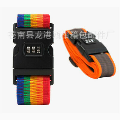 2PCS New Travel Luggage Suitcase Strap Baggage Backpack Bag Rainbow Color Belt