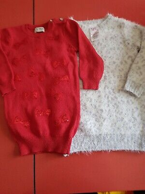 Baby Girls Knitted Dresses Age 18 -24 Months Next E -vie Angel