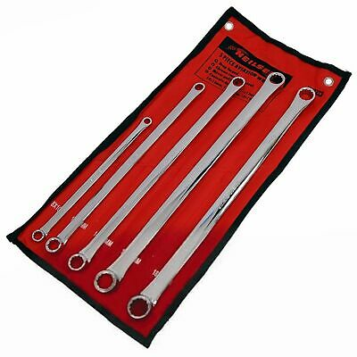 5 Piece Pro Extra Long Flat Ring Spanner Long Reach Spanners Wrench 8mm To 19mm