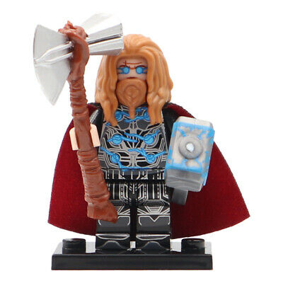 Thor (Avengers) - Marvel End Game Minifigure, Stormbreaker & Mjolnir